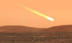 השביט סיידינג ספרינג כפי שהיה עשוי להיראות מאדמת מאדים. איור: סוכנות החלל ההודית
