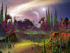נוף בכוכב לכת מחוץ למערכת השמש. איור: shutterstock