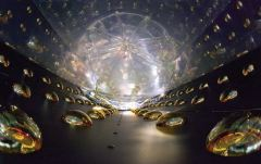 חלקיקי נויטרינו סטרילים. איור: רוי קלטשמידט, המעבדה הלאומית האמריקנית לורנס ברקלי