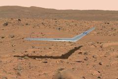 """פרשנות אומנותית של מטוס המאדים פראנטל. איור: נאס""""א"""