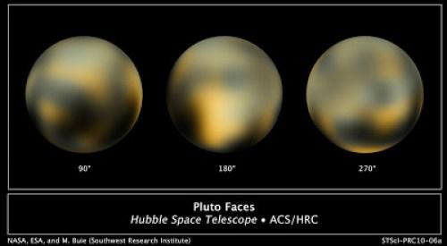 תמונות מעובדות של פלוטו מטלסקופ החלל האבל (2010)