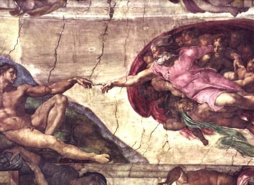 בריאת האדם - ציור התקרה המפורסם של מיכאלאנג'לו על תקרת הקפלה הסיסטינית בוותיקן, רומא. מתוך ויקיפדיה