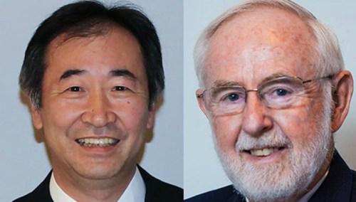 שינוי תפיסתי עמוק. מקדונלד (מימין) וקאגי'טה. צילומים: אתר פרס נובל