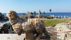 פסל האיל שהתגלה בקיסריה, דצמבר 2015. צילום: ורד שריג, נמל קיסריה