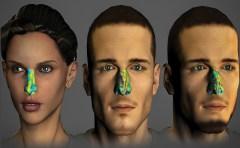 טביעת האצבע של חוש הריח של האדם באמצע דומה מאוד לטביעת האצבע של אותו אדם לאחר 30 יום (מימין), אך שונה מאוד מטביעת האצבע של אדם אחר (משמאל). המחשה: מכון ויצמן