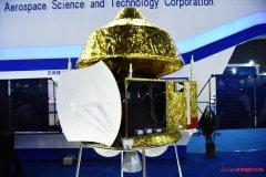 דגם של החללית הסינית למאדים כפי שהוצג בתערוכה בשנת 2015. צילום: (Credit: China Daily/Long Wei)