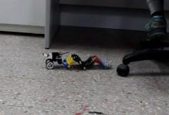 רובוט המבצע תנועה גלית שפותח באוניברסיטת בן גוריון. צילום מסך