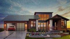 בית מבוסס אנרגיה סולארית. צילום: טסלה