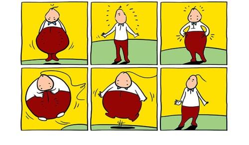 תסמונת היויו - הרזיה והשמנה. איור: אלית אבני-שרון