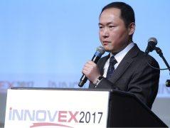 פרופ' ציאן צאי, אוניברסיטת פקינג בכנס NNOVEX2017. צילום: ניב קנטור