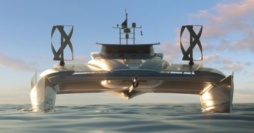 הדמיית תלת-ממד של הסירה. מקור: Pierrick Contin / Energy Observer.