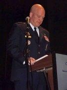 אמר מפקד פיקוד החלל של חיל האוויר האמריקאי גנרל (ארבעה כוכבים) ג'ון ריימונד במסגרת כנס החלל הבינלאומי השנים עשר על שם אילן רמון שהתקיים בבית חיל האוויר בהרצליה, 30/1/17. צילום: לאון רוזנבלום