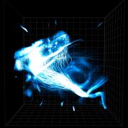 מבט כללי על סיבי עצב הנמתחים מתאים בקדמת מוח של עכבר מדגים את היתרונות של שיטת ההידרוג'ל שמאפשרת לחוקרים לעקוב אחר החיווט העצבי המורכב. מקור: מעבדת דיסרות', אוניברסיטת סטנפורד.