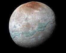 חגורת כארון (בתכלת). באדיבות NASA/JHUAPL/SwRI.