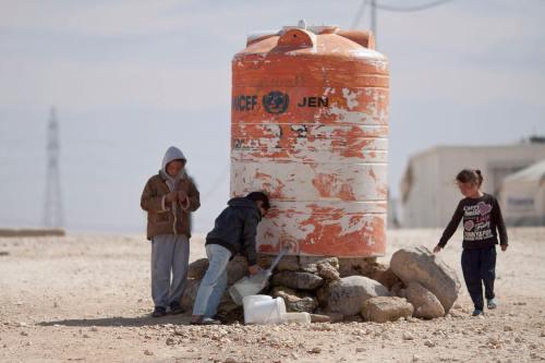 פליטים סורים בירדן. חשש מהסתננות של מיליוני פליטים ממצרים ומאפריקה על רקע המשבר האקלימי והדמוגרפי המשולב. צילום: Mustafa Bader, Wikipedia.