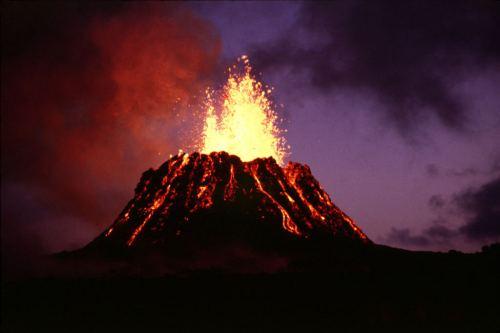 חרוט געשי בהר הגעש קילוואה בהוואי. מקור: United States Geological Survey / G.E. Ulrich.