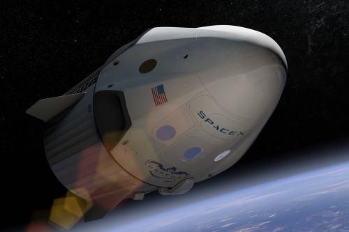 הדמייה של חללית דרגון 2, שספייס אקס מפתחת על מנת לשגר אסטרונאוטים אמריקאים לתחנת החלל הבינלאומית. מקור: SpaceX