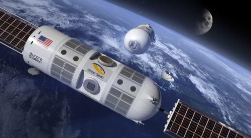 תחנת החלל הפרטית אורורה, שתשמש כמלון בחלל. איור: Orion Span