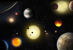 """הדמייה של כוכבי לכת חו-שמשיים. מקור:נאס""""א"""