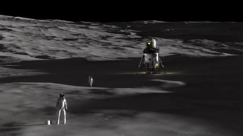נחתת הירח של לוקהיד מרטין. איור לוקהיד מרטיןנחתת הירח של לוקהיד מרטין. איור לוקהיד מרטין