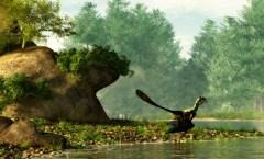 ארכיאופטריקס מתקופת היורה. כעת נמצא היצור שקדם לו - שהיו לו תכונות של זוחלים ועופות בו זמנית. איור: shutterstock