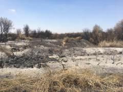 אדמה חרוכה בנחל גרר כתוצאה מבלוני תעברה שהגיעו מעזה. השינויים במערכת האקולוגית יכולים להיות ארוכי טווח, וקשה לדעת עדיין מה תהיה השפעת האש בעתיד. תצלום: זווית