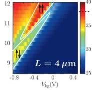 התנגדות חשמלית גדולה מאפס נמדדה במערכת הול קוונטית שברית שאינה מקוטבת, כתוצאה מחלקיקים הנעים נגד הזרם