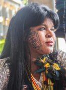סוניה גואג'אג'ארה, פוליטיקאית ופעילה ילידית בברזיל, ואחת הדוברות בכנס האקלים בבון, 2019. צילום: Andrew Aurélio P. de A. Costa מתוך ויקיפדיה