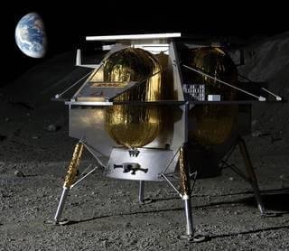 אסטרובוטיק מפיטסבורג הציעה להטיס עד 14 מטעדים אל מכתש גדול בצד הקרוב של הירח. איור: אסטרובוטיק
