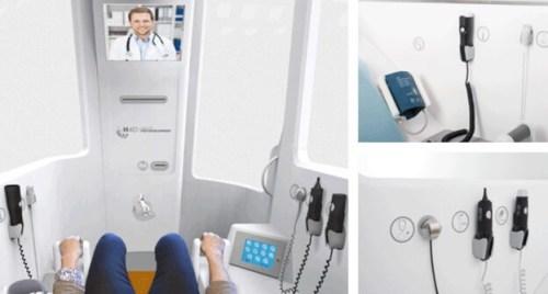 """תמונה של """"חדר הרפואה מרחוק"""" של חברת H4D. עשרות חדרים כאלו נבחנים כיום במספר מדינות אירופאיות"""