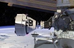 הדמיה של חללית סטארליינר עוגנת בתחנת החלל. זה כבר לא יקרה בשיגור הנוכחי (20/12/19) תקלה. איור: בואינג