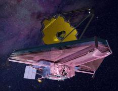 """טלסקופ החלל ג'יימס ווב של נאס""""א. קרדיט: המעבדה להמשגת תמונה (Conceptual Image Lab) במרכז לטיסות החלל גודרד של נאס""""א"""