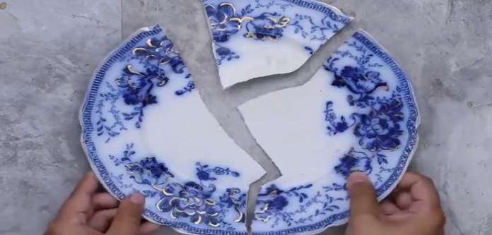 kırık tabak