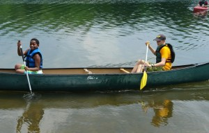 Campers Canoeing Photo