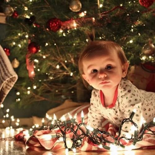 Baby Christmas Photo Op