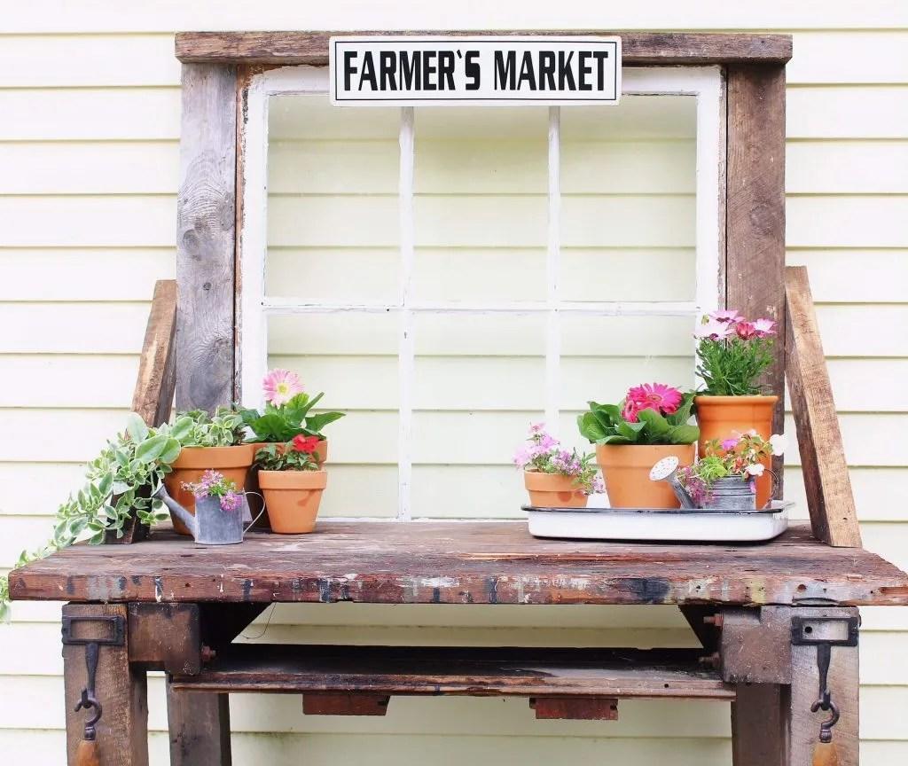 Pleasant Diy Reclaimed Potting Bench Two Paws Farmhouse Ibusinesslaw Wood Chair Design Ideas Ibusinesslaworg