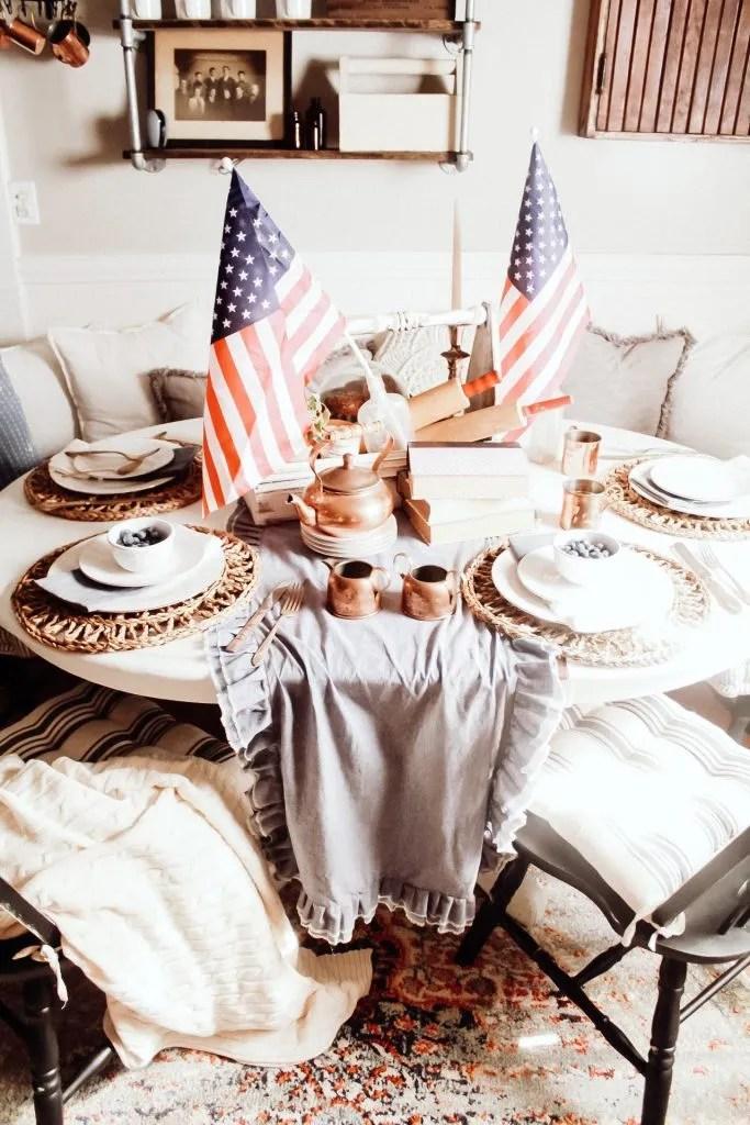 Patriotic Farmhouse Tablescape
