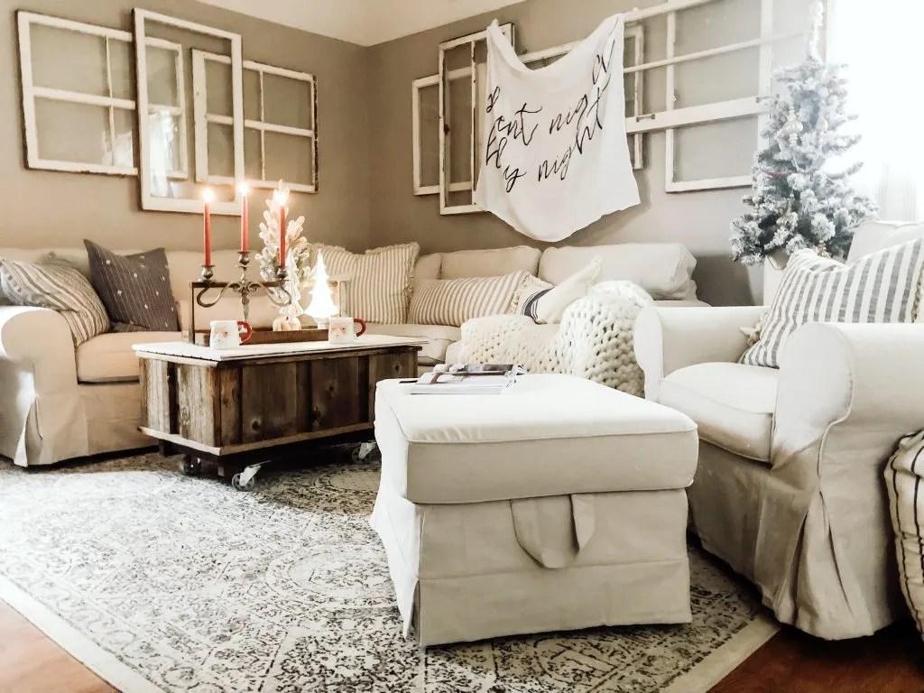 Ikea Living Room Photos cozy christmas living room & ikea ektorp sectional review