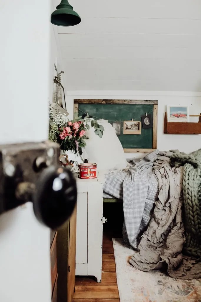 Spring Inspired Vintage Guest Bedroom