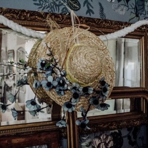DIY Sun Hat Spring Wreath