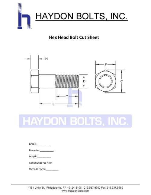 small resolution of hex bolt cut sheet haydon bolts inc
