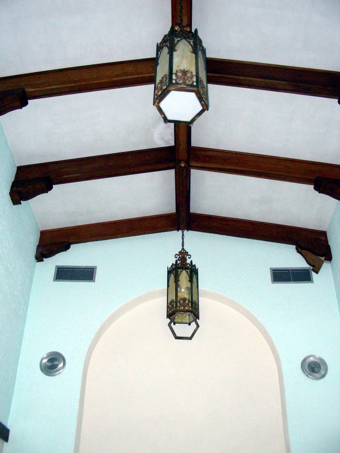 Ceiling of Chapel, from door toward the altar