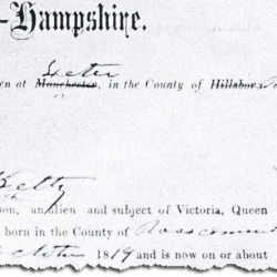 Naturalization Papers for Thomas Kelty