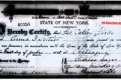 The Marriage of George Oakley Yerks to Annie Dora Cutler