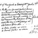 Supporting Documentation for William Yerks (b. 10 Apr 1725, d. BEF 1785) Application for Patriot Status with the DAR
