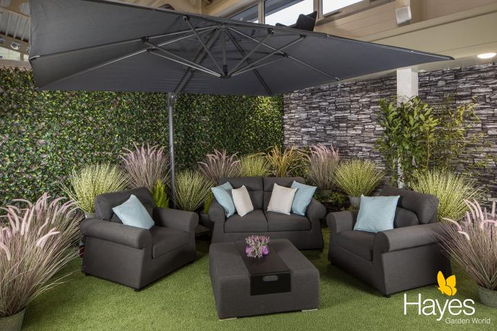 palermo rattan effect corner sofa set cover el corte ingles sofas natuzzi norfolk leisure 3 5m x 3m rectangular cantilever parasol with lava frame 150kg base offer hayes garden world