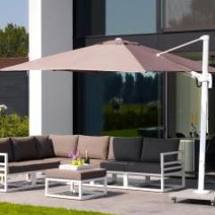 Palermo Rattan Effect Corner Sofa Set Cover Three Seater Bed Uk Life Outdoor Living Hayes Garden World This Parasol Special Offer Includes A Cantilever With White Frame Led Lights 80kg