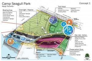 Hayes Township Camp Sea-Gull Park concept plan 1