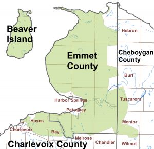 map emmet county and hayes twp