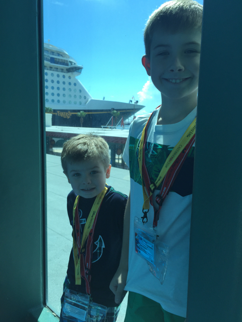 Hayes Boys Check out Disney Fantasy Ship Before Boarding